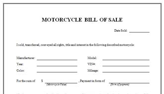 The Ultimate Guide to Bill Of Sale Template for Motorcycle