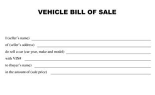 bill of sale vehicle template