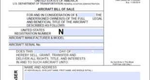 Aircraft Bill of Sale