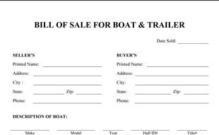 Wonderful Boat Bill Of Sale Template . Intended Free Printable Bill Of Sale For Boat