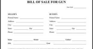 firearms bill of sale texas