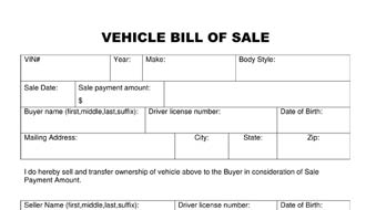 ... Bill Of Sale Vehicle Template Thumb ...