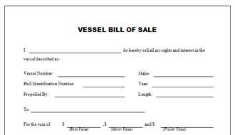 bill of sale florida boat